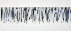 Baby Black Human Hair Reborn Baby Lashes Clear Thread Strip