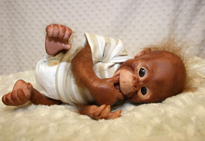Binki Orangutan Painted And Rooted Tinkerbellcreations Co Uk