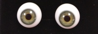 Tinks GREY/GREEN Lauscha Flat Back Solid Crystal Glass Eyes