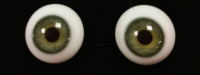 Tinks SOFT GREEN Lauscha Flat Back Solid Crystal Glass Eyes