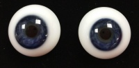 Tinks TRUE BLUE Lauscha Flat Back Solid Crystal Glass Eyes
