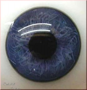 Baby Blue Half Round Designer Crystal Glass Eyes 24mm