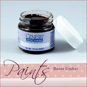 Genesis Heat Set Paint - Burnt Umber