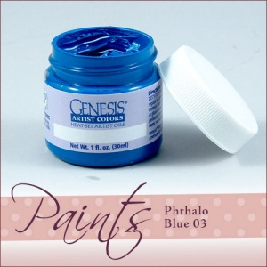 Genesis Heat Set Paint - Phthalo Blue 03