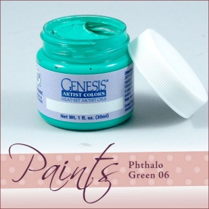 Genesis Heat Set Paint - Phthalo Green 06