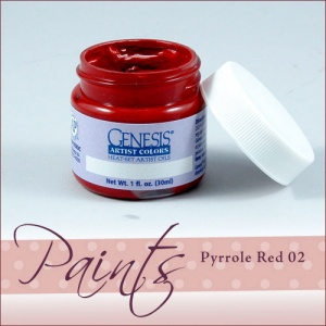 Genesis Heat Set Paint - Pyrole Red 02