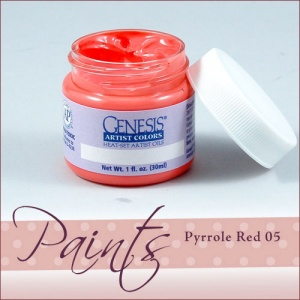 Genesis Heat Set Paint - Pyrole Red 05