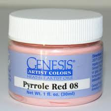 Genesis Heat Set Paint - Pyrole Red 08