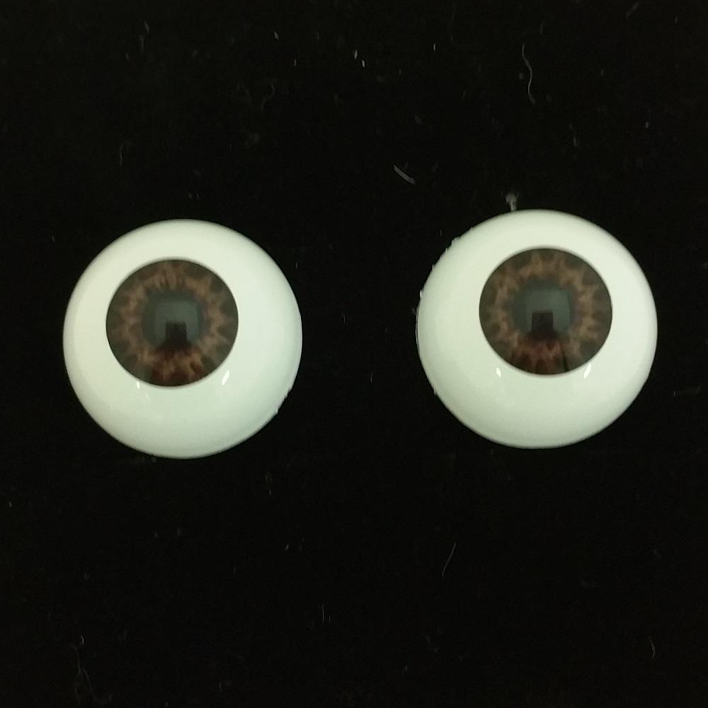 Chocolate Brown 26mm Half Round Real Eyes ~ REBORN DOLL SUPPLIES