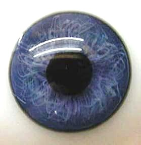 Light  Baby Blue Half Round Designer Crystal Glass Eyes 24mm