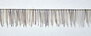 Medium Brown Human Hair Clear Thread Reborn  Baby Lashes Strip