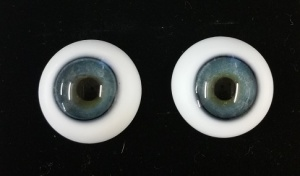 Tinks SOFT BLUE Lauscha Flat Back Solid Crystal Glass Eyes