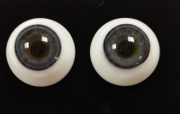 Tinks BLUE GREY Lauscha Flat Back Solid Crystal Glass Eyes