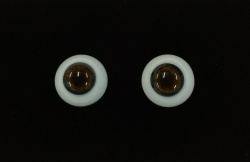 Newborn Smokey Quartz Human Eyes Full Round