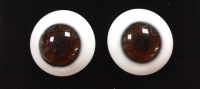 Tinks MIDNIGHT BROWN Lauscha Flat Back Solid Crystal Glass Eyes